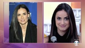 Demi Moore e Mari Palma: irmãs? (Foto: TV Globo)