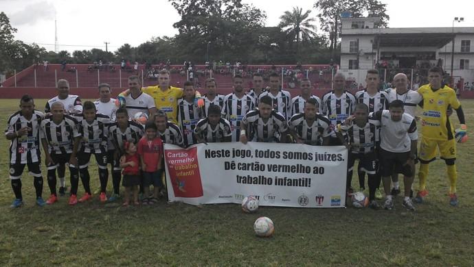 São Raimundo conquista primeiro ponto na competição (Foto: Divulgação/ São Raimundo F.C.)