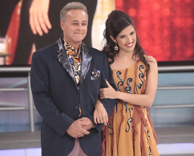 Kadu Moliterno e Daniele De Lova (Foto: Domingão do Faustão / TV Globo)