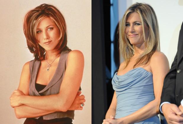 Nos tempos de 'Friends', Aniston, em foto de 1995, tinha 26 anos. Atualmente, a atriz está com 45. (Foto: Getty Images)
