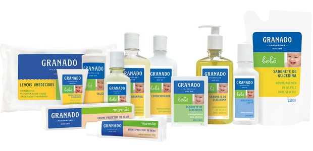 Linha Bebê Granado: produtos hipoalergênicos e dermatologicamente testados (Foto: Divulgação)