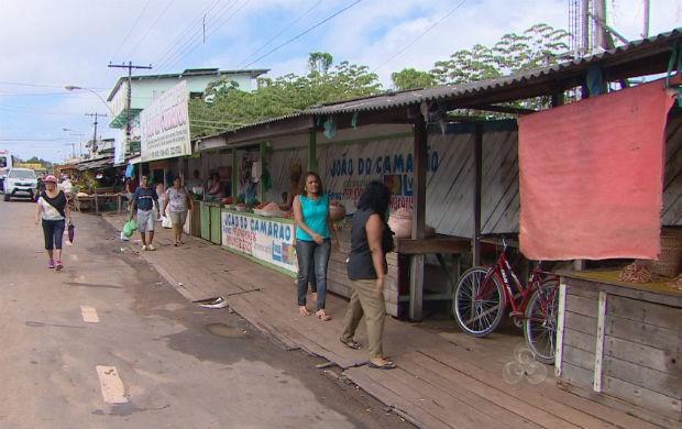 Feira da rua São José (Foto: Reprodução/TV Amapá)