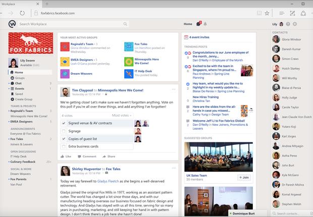 Workplace: o Facebook para o trabalho (Foto: Divulgação)
