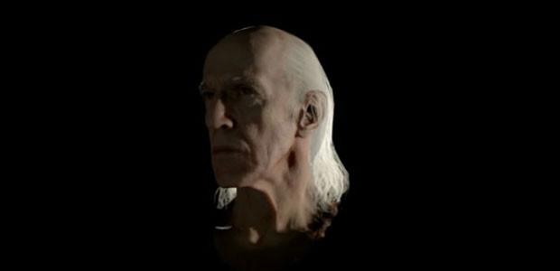 Imagem de uma cabeça gerada em tempo real pelo PS4 é apresentada durante o lançamento do console. (Foto: Reprodução)