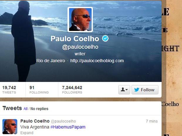 Twitter de Paulo Coelho (Foto: Reprodução)