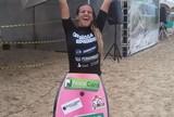 Priscilla Medeiros festeja primeiro t�tulo como bodyboarder profissional