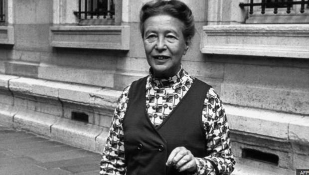 Escritora francesa Simone de Beauvoir é um símbolo do feminismo  (Foto: AFP)