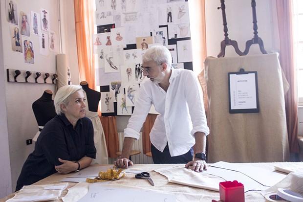 Silvia Fendi and Lupo Lanzara at Accademia Costume & Moda. (Foto: P&P FOTOGRAFIA, SIMONE PICCHI)
