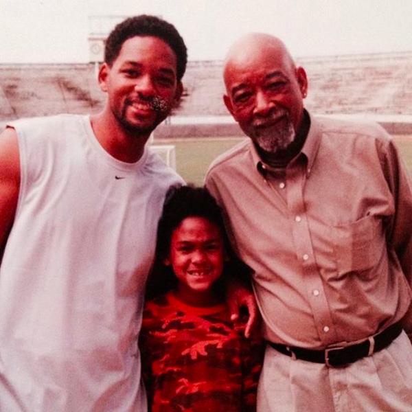 O ator Will Smith junto com seu filho e o pai (Foto: Instagram)