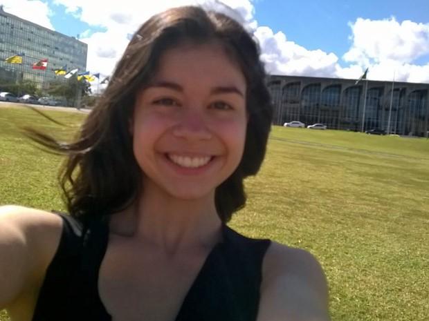Letícia, de 17 anos,é a única brasileira a participar da Olímpiada Internacional de Biologia na Dinamarca (Foto: Arquivo pessoal.Letícia Pereira de Souza)
