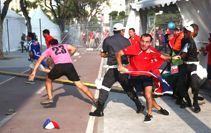 Chilenos Invasão Maracanã (Foto: Getty Images)