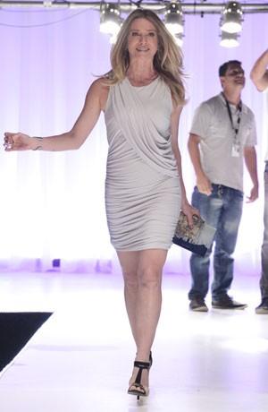 Letícia incorpora uma modelo na gravação (Foto: Salve Jorge/TV Globo)