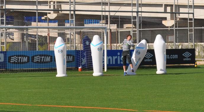 tiago grêmio treino (Foto: Eduardo Deconto/GloboEsporte.com)