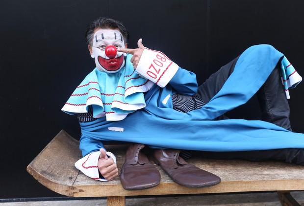 Marcos Fiel, o palhaço Bozo (Foto: Iwi Onodera / EGO)