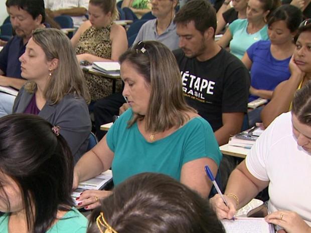 Candidatos aproveitam aulas em cursos para aprimorar desempenho  (Foto: Reprodução EPTV)