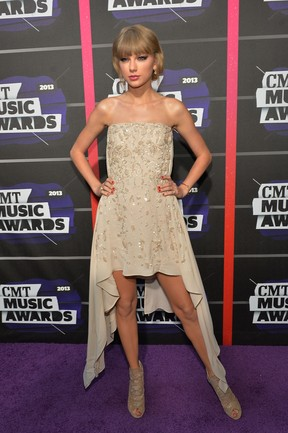 Taylor Swift em premiação nos Estados Unidos (Foto: Jason Merritt/ Getty Images/ AFP)