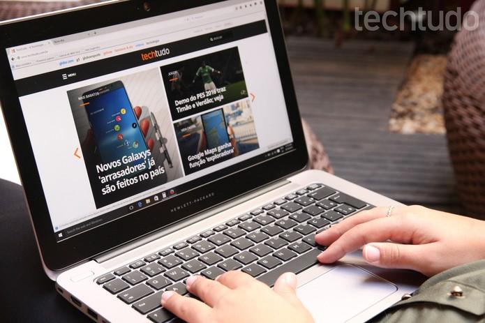 TechTudo no Mozilla Firefox (Foto: Zíngara Lofrano/TechTudo)