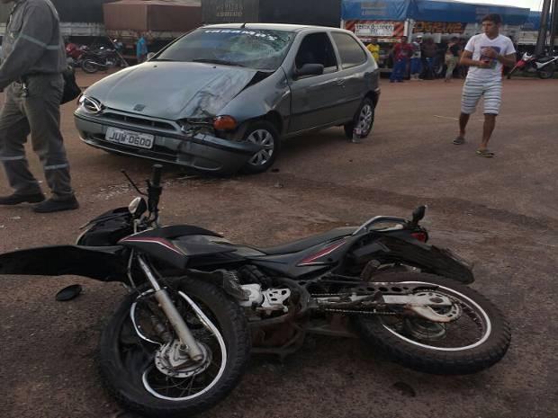 Acidente Carro Motociclista Morre Barcarena PA-481 Trevo do Peteca (Foto: Divulgação/PRE)
