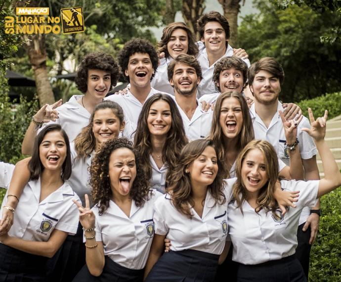 A turma do colégio Leal Brazil vai agitar a trama da nova 'Malhação' (Foto: João Cotta/TV Globo)