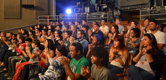 Alunos de Comunicação Social da UFMT lotaram a nossa plateia (Foto: Luana Daubian)