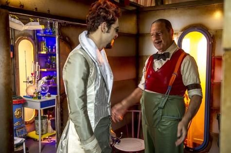 Bruno e Antonio Fagundes em 'Meu pedacinho de chão' (Foto: Renato Rocha Miranda/TV Globo)