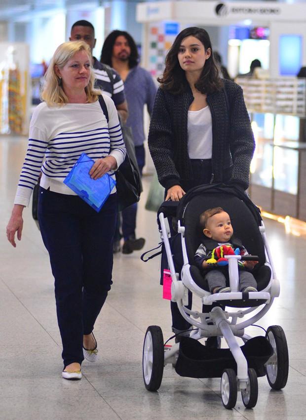 Sophie Charlotte e o filho, Otto (Foto: William Oda/AgNews)