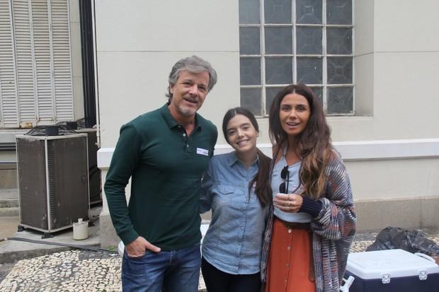 Marcello Novaes, Giovanna Lancellotti e Giovanna Antonelli (Foto: AgNews)