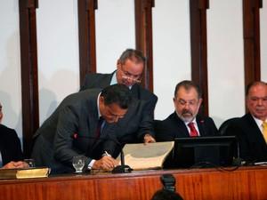 Rui Costa (PT) é empossado novo governador da Bahia (Foto: Carol Garcia/GOVBA)
