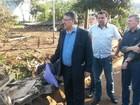 No Oeste, Colombo anuncia recursos para reconstrução após enxurrada