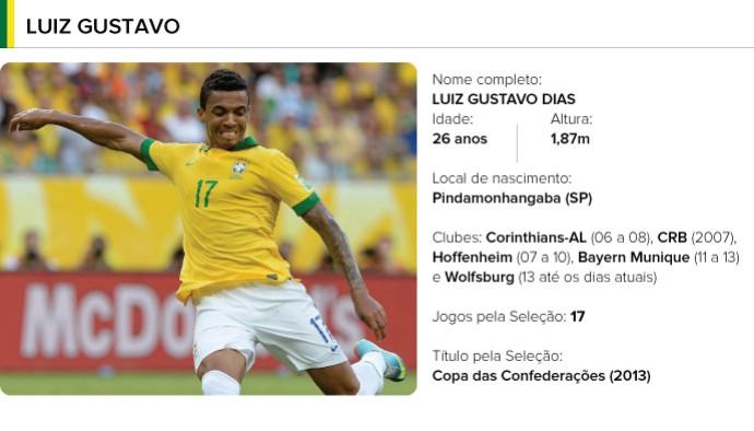 PERFIL jogadores brasil - Luiz Gustavo (Foto: Editoria de arte)