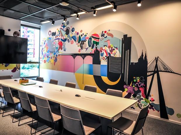Sala de reunião do Campus São Paulo do Google (Foto: Divulgação)