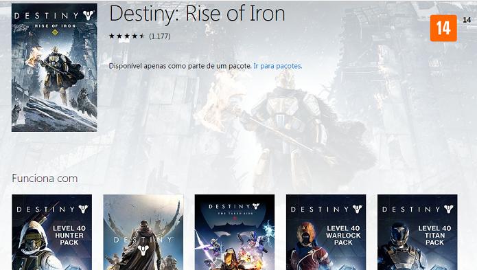 Rise of Iron pode ser baixado na Xbox Store (Reprodução/Victor Teixeira)