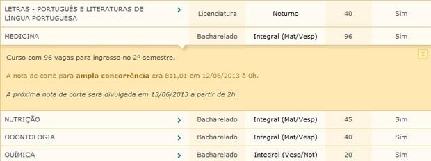 Candidato pode acompanhar a nota de corte de cada curso no site do Sisu (Foto: Reprodução)