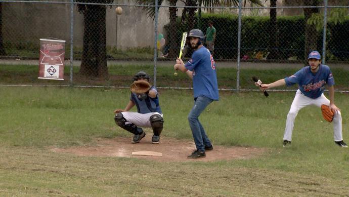 Diego Araujo quer entrar no Vitória Baseball, único time capixaba no esporte (Foto: Divulgação / TV Gazeta ES)