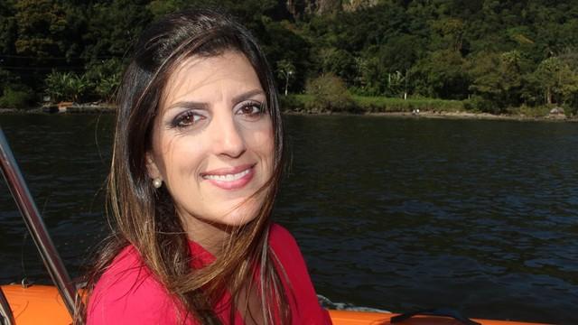 Repórter da TV Tribuna Marcela Pierotti (Foto: Arquivo Pessoal)