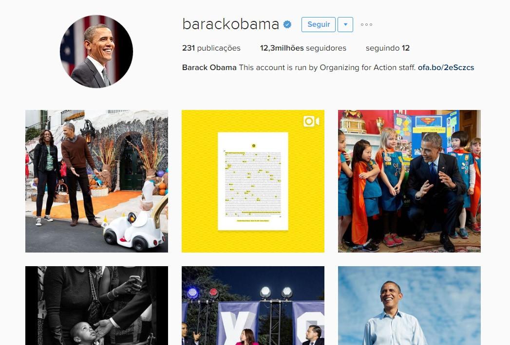 Barack mudará seu perfil a partir desta noite (Foto: Reprodução/Instagram)