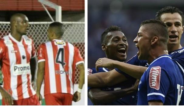 Na tela da Inter TV tem Villa Nova x Cruzeiro, pela 7ª rodada do Mineiro (Foto: Montagem GE Grande Minas)