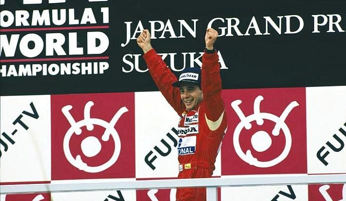 Ayrton Senna pódio GP do Japão de 1988 (Foto: Divulgação)