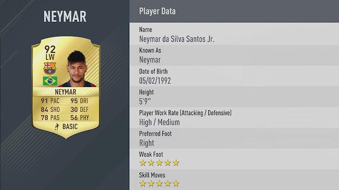 Neymar impressiona entre os 3 melhores de Fifa 17 (Foto: Divulgação/EA Sports)
