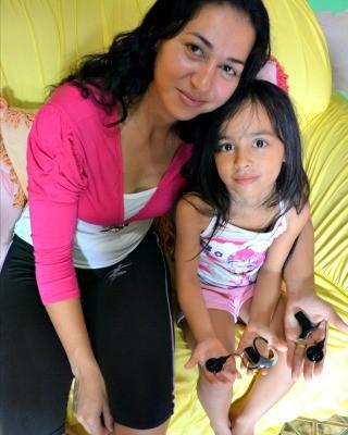 Mãe e filha foram operadas no mesmo dia, em Campinas (Foto: Aline Nascimento/G1)
