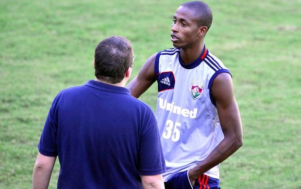 Denilson, treino Fluminense (Foto: Moyses Ferman / Agência Photocamera)