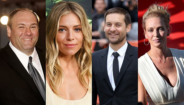 James Gandolfini, Sienna Miller, Tobey Maguire, Uma Thurman (Foto: Getty Images)