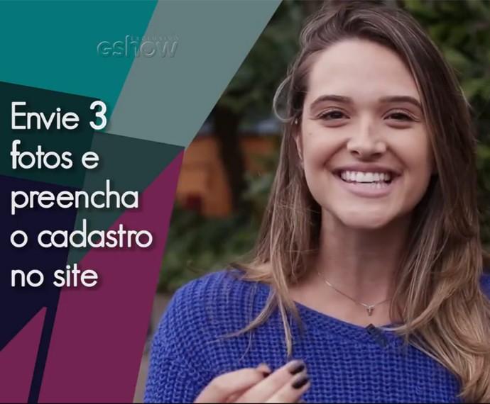 Juliana Paiva dá a dica para vocÊ se inscrever no Garota Totalmente Demais Web (Foto: Lydio Cerqueira / Gshow)