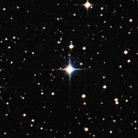 Um vislumbre do futuro do Sol: foto mostra a gêmea solar HIP 102152, quatro bilhões de anos mais velha que nossa estrela-mãe (Foto: ESO/Digitized Sky Survey 2/Davide De Martin)