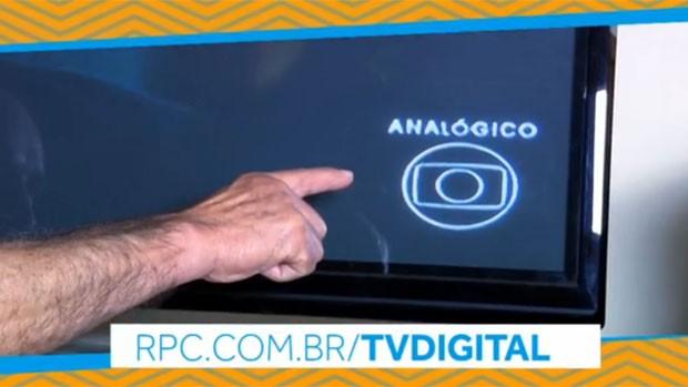 Sua TV mostra o aviso 'analógico' no canto da tela? Saiba o que fazer (Reprodução/RPC)