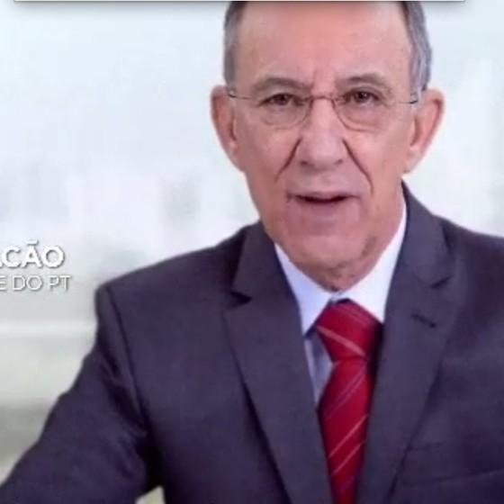Rui Falcão, presidente do PT, em vídeo de propaganda do partido (Foto: Reprodução Youtube)