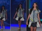 De pernas de fora, Bruna Marquezine desfila pela Coca-Cola Clothing no Fashion Rio