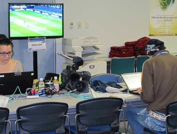 jornalistas ingleses corinthians (Foto: Cahê Mota/Globoesporte.com)