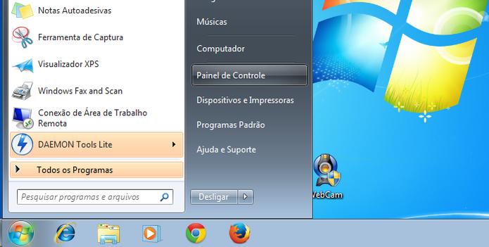 Abrindo o painel de controle no Windows 7  (Foto: Reprodução/Edivaldo Brito)