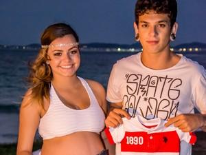 Pais da criança chegaram a fazer ensaio fotográfico com filho (Foto: Tayná Ribeiro/Arquivo)